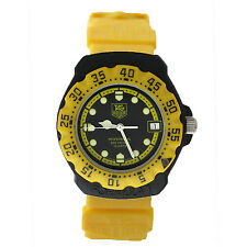 TAG HEUER FORMULA 1 VINTAGE MID-SIZE 380.513 BLACK+YELLOW 35MM EXCLNT COND