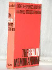 Adam Hall - The Berlin Memorandum 1st Edition 1965