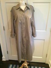 Authentic Burberrys' Khaki Tan Rain Trench Coat Nova Check Sz 10 Long EUC