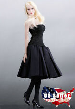 """1/6 Sexy Black Dress Shoes Set For 12"""" PHICEN Hot Toys Female Figure Doll ❶USA❶"""