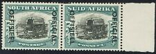 SOUTH AFRICA 1950 OFFICIAL OX WAGON 5/- MNH ** PAIR