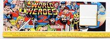 ARCADE GAME UPPER MARQUEE ORIGINAL WORLD HEROES 2 by SNK/Neo-Geo