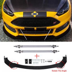 For Ford Focus RS ST MK3 MK4 Front Bumper Lip Splitter Spoiler + Strut Rods AS