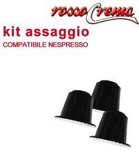 RossoCrema cialde caffè 15 capsule Nespresso compatibili kit Assaggio di prova