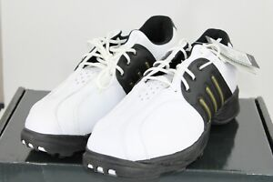 Adidas Mens Tour Traxion II 2 Golf Shoes white 738225 Lace Up Low Top Spike 8 M