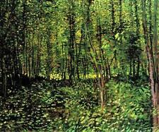 TREES, Vincent Van Gogh Landscape Reproduction CANVAS PRINT 28x24 in.