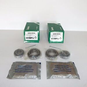 Pair of Lucas Front Wheel Bearing Kits for Jaguar E-Type XKE and XJ6 to 1977