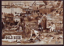 NEW ZEALAND 2006 GOLD RUSH MINIATURE SHEET FINE USED