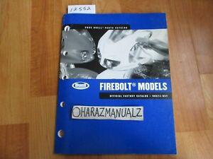 2005 BUELL Firebolt Models Official Factory Parts Catalog Book Manual