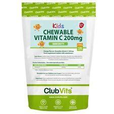 Childrens Vitamin C 200mg Orange | 120 Chewable Tablets Kids Immunity ClubVits