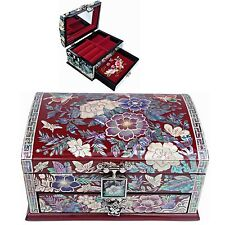 Jewelry Box Mother of Pearl Jewelry Organizer Jewelry Holder Craftsman 5202QR