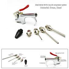 5x Air Tool Compressor Blow Gun Chuck Pneumatic Accessories Kit w/Safety Nozzle