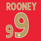 ROONEY #9 - ENGLAND 2006/08 AWAY NAMESET PRINT HIGH QUALITY PVC