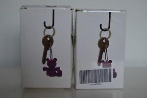3EA Umbrella Shaped Storage Hooks Keys, Glasses, Coins 2 Pack Multi Coloured