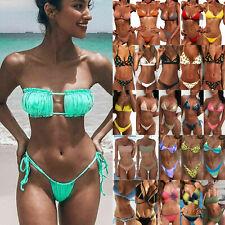 Women Brazilian Sexy Bikini Set Bandage Bra G-String Thongs Swimwear Swimsuit