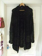 H&M Cardigan Black/Khaki Green Super Chunky Cable Knit Oversized UK Size Medium