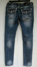 Womens Grace In La Jeans Skinny White Stitched Womens Size 27