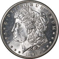1891-S Morgan Silver Dollar Choice BU Blast White Great Eye Appeal Strong Strike