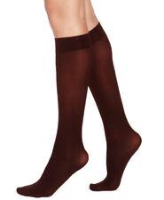 33d1d74c7 HUE Women s Soft Opaque Knee Hi Socks 2 Pair Espresso Size 1