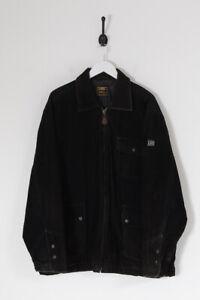 Vintage Lee Quilted Lined Corduroy Jacket Black (L)