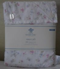 Rachel Ashwell Simply Shabby Chic Twin Sheet Set Vtg. Cottage Pink Floral Pastel