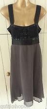 NOUGAT designer SILK blend DOWNTON FLAPPER sequinned COCKTAIL dress 1 8 36 NEW