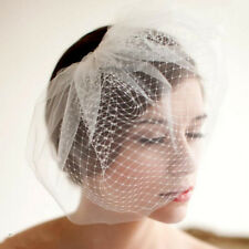 2-Tier European Bridal Birdcage Veil w/ Comb Wedding Bridal Hair Mesh