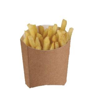 Kraft Disposable Takeaway Cardboard Tray Chip Scoop Boxes Fast Food Packaging