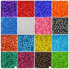 BeadTin Transparent 8mm Round Craft Beads (300pcs) - Color choice