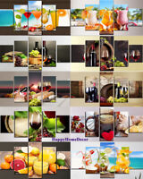 Healthy Drinks Painting Poster Wall Art Kitchen Restaurant Decor 5p Canvas Print