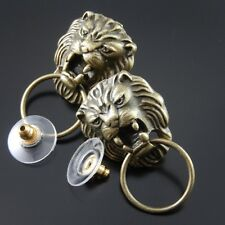 12PCS Antique Bronze Vintage Alloy Animal Lion Head Pattern Pendant Charms 34813
