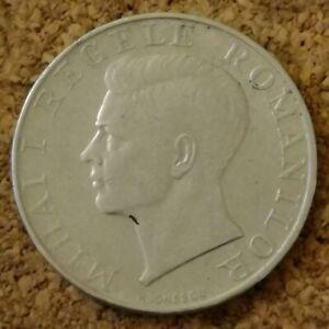 Romania 250 Lei Coin 1941 Silver