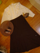 Victorian Edwardian lady ivory blouse brown skirt hat bag 14 caroling Titanic