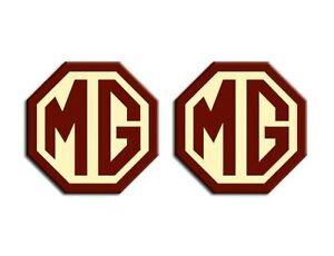 MG TF LE500 Styled 70mm Front Rear Badge Insert Set Logo Burgundy Cream