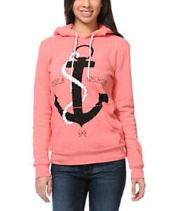 NWT Glamour Kills Anchor hoodie sweatshirt sweater Jacket Juniors Womens Small