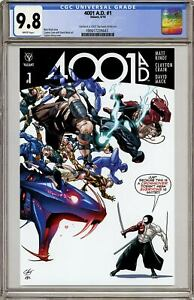 4001 AD #1 Valiant Comics 2016 NM CGC Replica Variant D Clayton Henry Comic Book