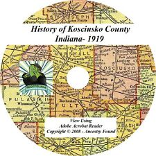 1919 History & Genealogy of KOSCIUSKO County Indiana IN