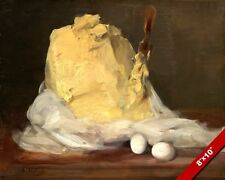 EGGS & BUTTER FRENCH FOOD PASTRY BAKING PAINTING ART REAL CANVAS GICLEEPRINT