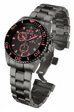 New Mens Invicta 12111 Reserve Pro Diver Chronograph Gunmetal Bracelet Watch