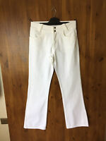 RRP £99 WRAP LONDON WHITE SUMMER JEANS Bootcut UK 8 10 12 14 16 18 22 - NEW