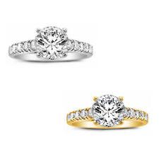 Tgw Round-cut Diamonette Engagement Ring 14k Yellow Gold 1 1/3ct