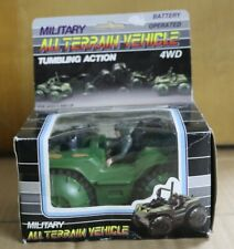 Toy Military All Terrain Vehicle Battery Operated 4WD Tumbling Action