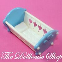 Fisher Price Loving Family Dream Dollhouse Blue Baby Boy Doll Crib Cradle Nurser