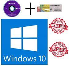 Microsoft Windows 10 Pro Professional 64 bit DVD + COA 1 License