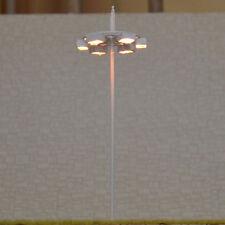 4 pcs OO / HO scale Model Lamp Plaza Lamppost Street Light 6V + resistor for 12V
