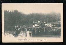 West Africa Sierra Leone FREETOWN Arrival country produce by river 1900s u/b PPC