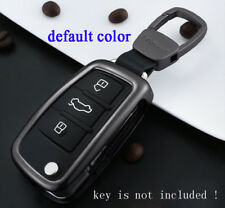For Audi Flip Car Key Shell Holder Case Fit A2 A4 A6 TT Q7 Fob Cover Aluminum