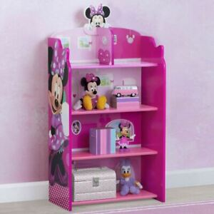 Delta Children Disney Minnie Mouse Wooden Playhouse 39.5'' Bookcase CBKE1225