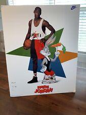 "Vintage Nike 1992 Michael Jordan Mounted Poster HARE JORDAN 20""x16"" Bugs RARE"