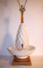 VTG 50s EAMES ERA MID CENTURY MODERN GLAZED WHITE CERAMIC TABLE LAMP MODERNISM